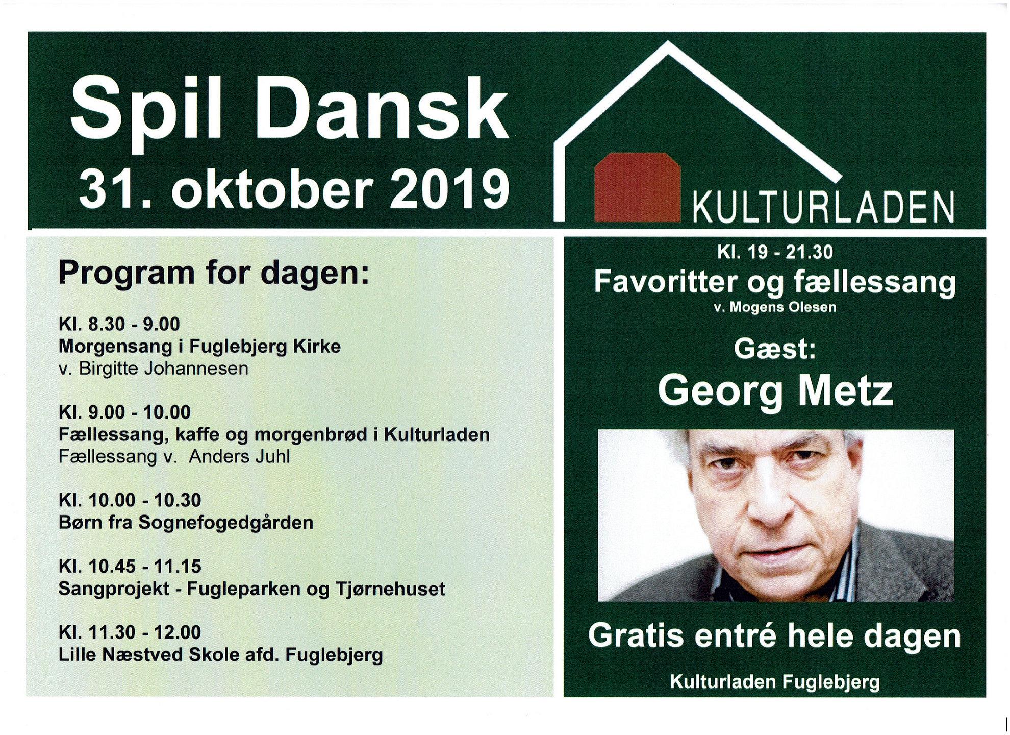 Spil Dansk plakat 2019